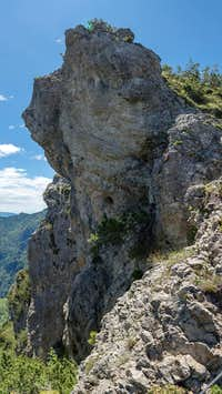 Rock tower on Cima Prubogn