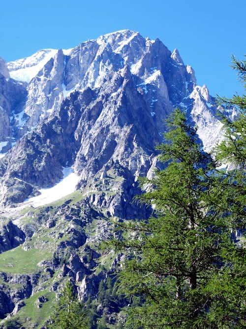 Grandes Jorasses SE Face above the Val Ferret 2016