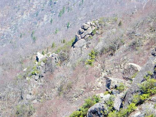 View of the various rock...