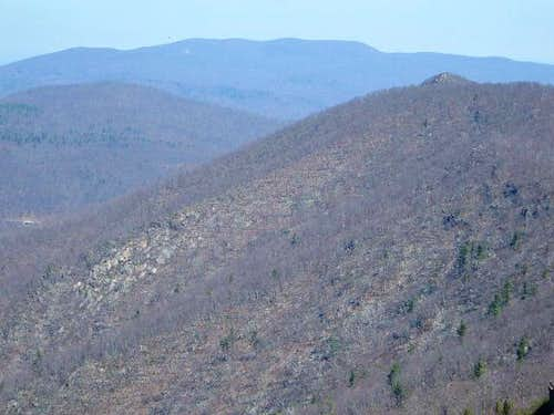Mary's Rock from the summit...