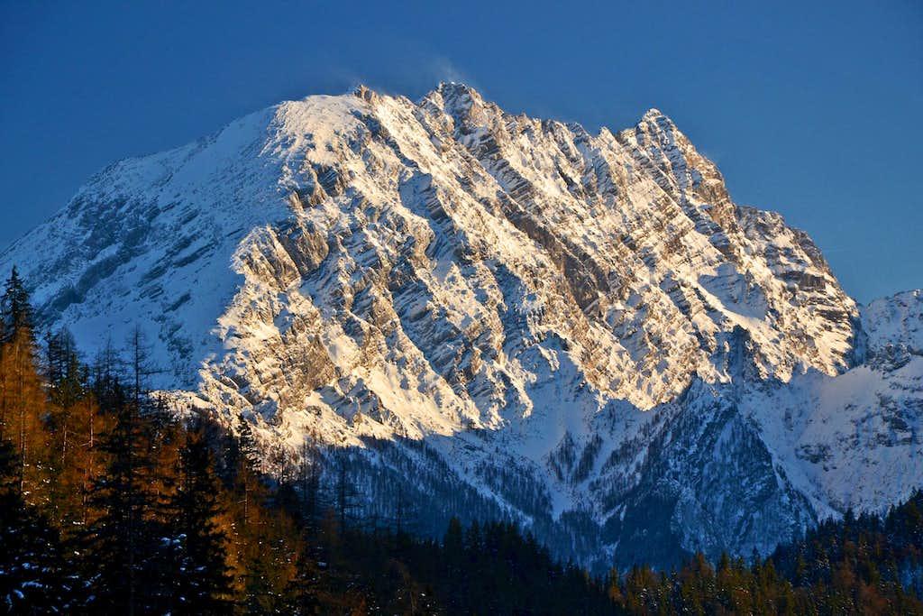 Watzmann west face in winter