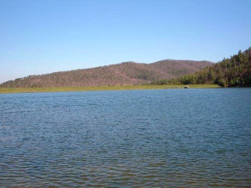 Arrowhead Lake sits a few...