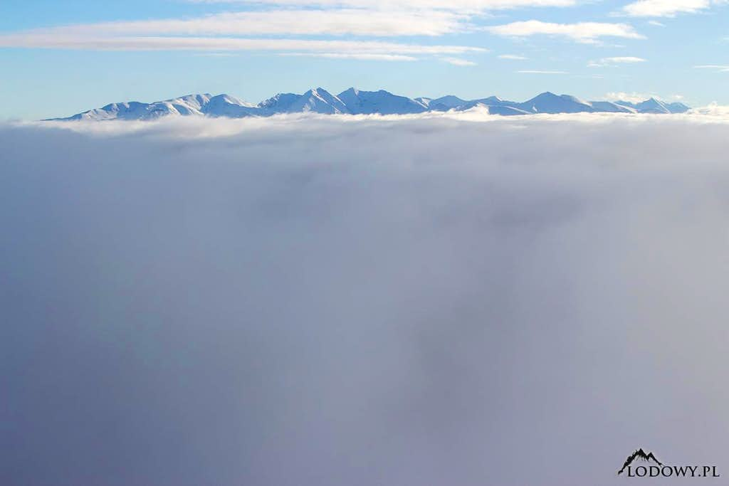 Tatra mountains from Velky Choc