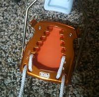 Petzl Irvis Hybrid cord adjustment