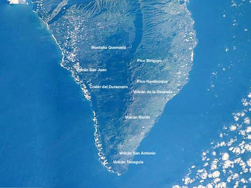 Satellite image of the Cumbre...