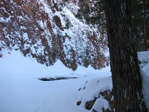 In Devil Track Gorge - Winter