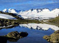 Fannåraken seen from Sognefjellshytta