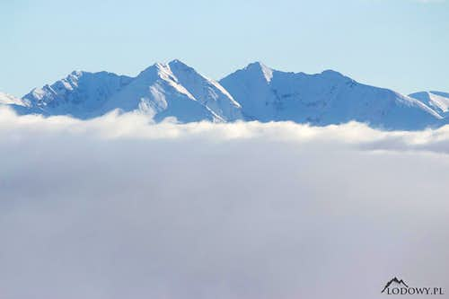 Western Tatras from Velky Choc
