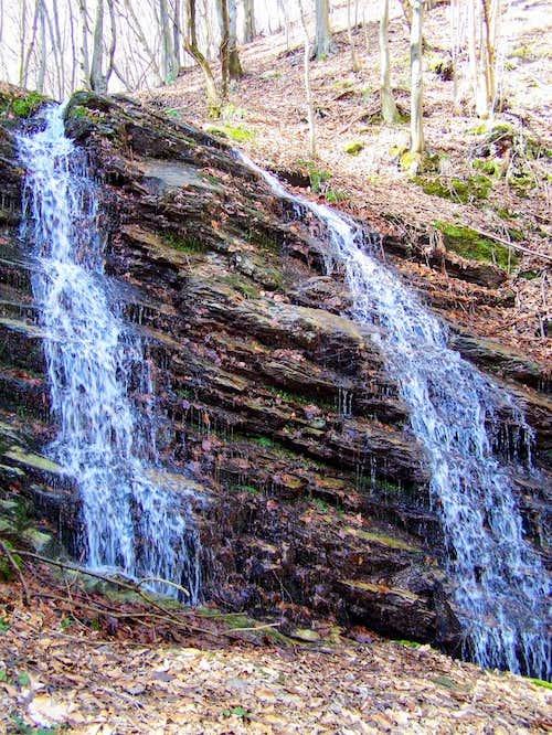 Waterfall in the valley of Stražemanka