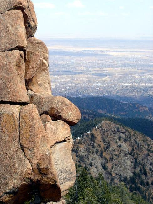 The rock formation on the...