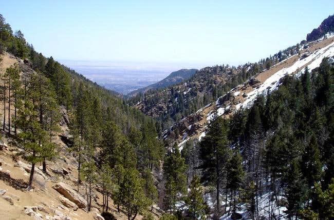 View back down North Cheyenne...
