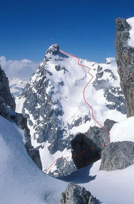 Gemstobel ski route seen from...