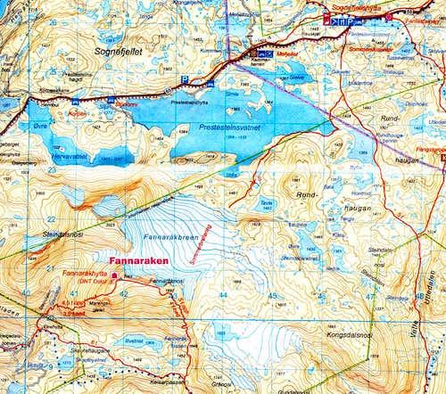 Fannaråken map