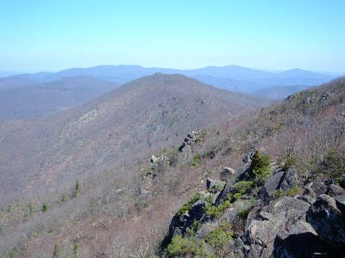 Mary\'s Rock from the summit...