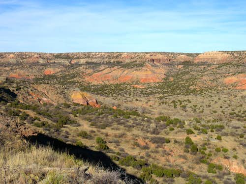 Red colored canyon