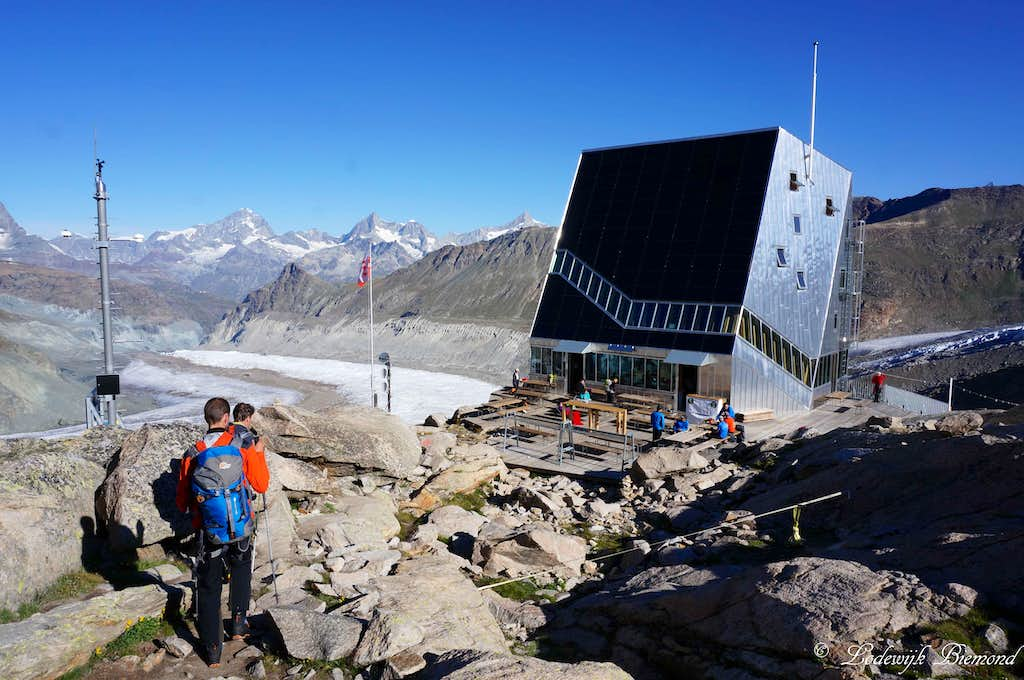 The new Monte Rosa Hut