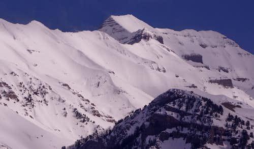 Timpanogos Above a Mahogany Mountain Subpeak