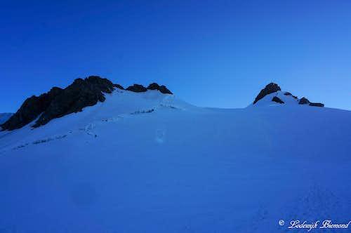 Balmenhorn (13.671ft / 4167m) & Corno Nero (14.176ft /4321 m)