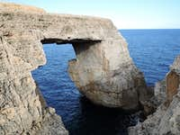 Wied il-Mielah rock arch