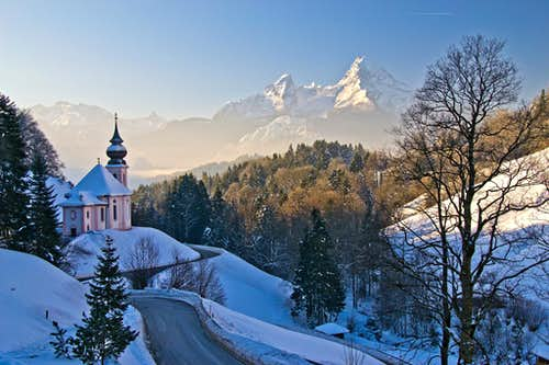 Winter view from Maria Gern