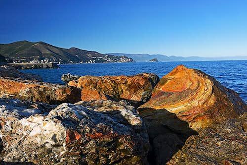 Ligurian coast near Noli