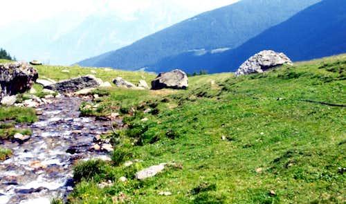 Barasson Torrent descending above Morguinaz Alp 2016