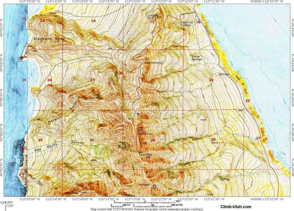 Frary Peak Map