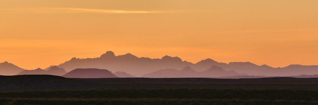 Sunrise and the Organ Mountains