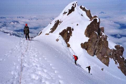 Near the summit of Glacier...