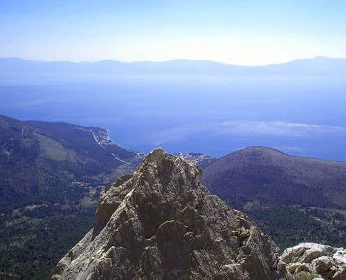 View from Velja luka peak,
