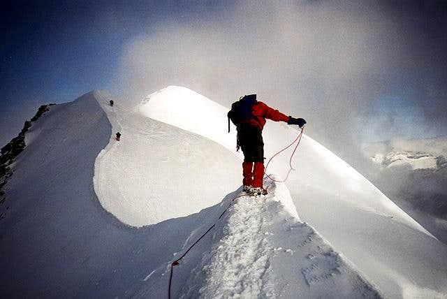 castor's summit ridge coming...