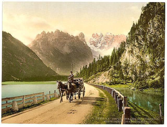 Monte Cristallo from Ampezzo...