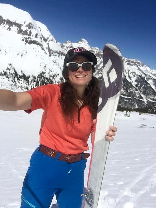 Skiing below US Mountain