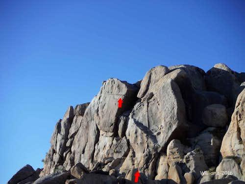 Zebra Cliffs East Side, 5.8-5.11a