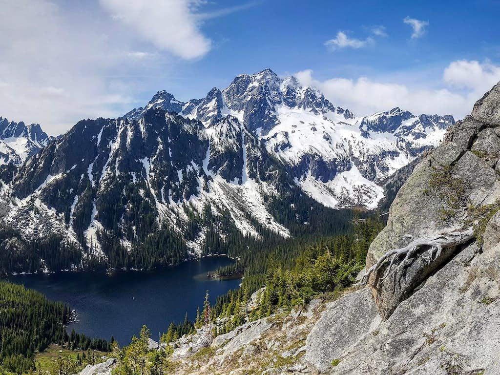 Mount Stuart, Lake Stuart from Axis