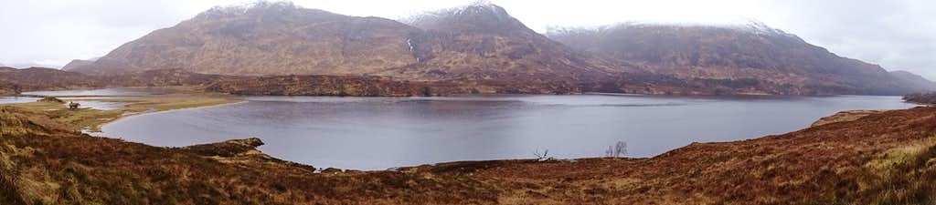 Panoramic view of Loch Affric