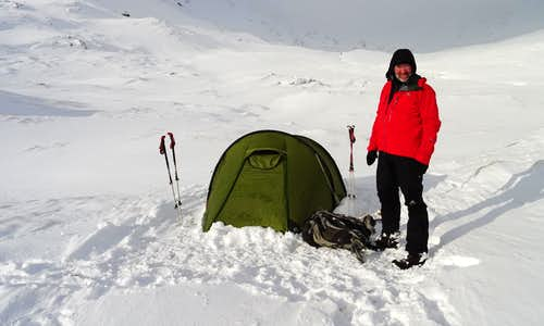 Ready to leave camp upper Coire Leachavie