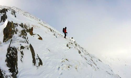 Climbing out of Coire Leachavie to Point 1062m