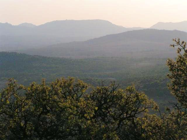 Elk Mountain (flat top) from...