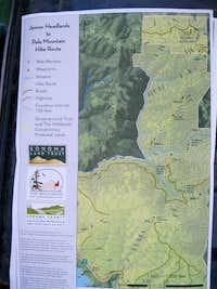 Pole Mountain Sonoma County Hiking Map