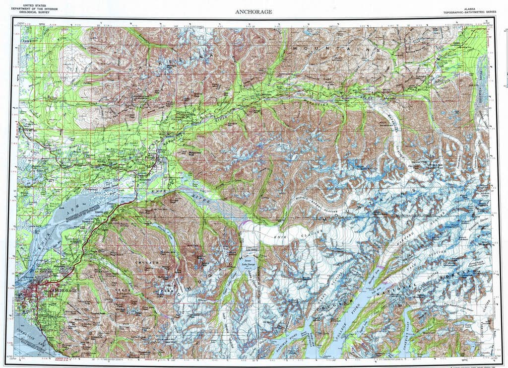 Chugach Mountains Overview Map