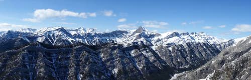 Loder Peak summit panorama