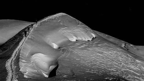 Crevasses On Mont Blanc