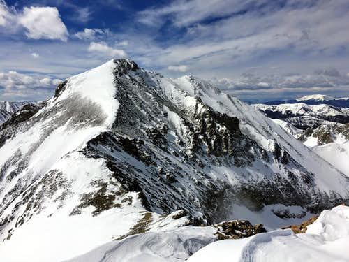 Mount Richthofen from Static Peak Summit