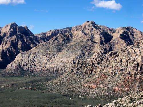 Goodman Peak in the Center