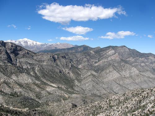 Looking Northwest at Peaks Including Griffith Peak, Harris Mountain, Wilson Ridge & Willow Benchmark