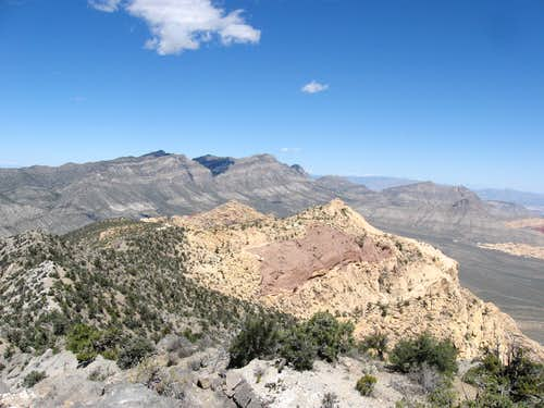 Looking Northeast, North Peak is the Sandstone Peak in the Foreground