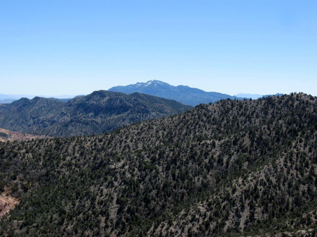 Mountain Springs Peak & Potosi Mountain to the South