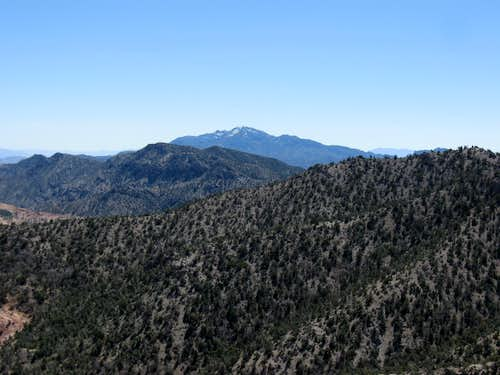 Mountain Springs Peak & Potosi Mountain to the South