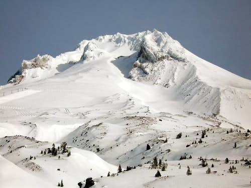 South face of Mt Hood